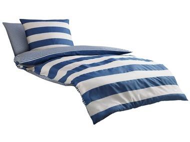 Castell Mako-saténové ložní prádlo Maritime modré