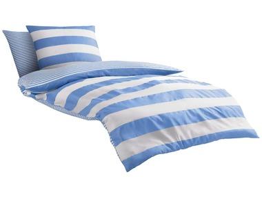 Castell Mako-saténové ložní prádlo Maritime světle modré