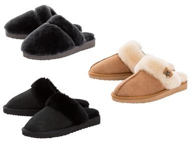 ESMARA® Dámské domácí kožené pantofle