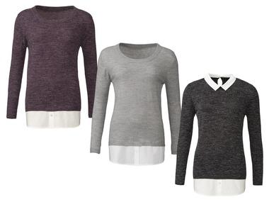 ESMARA® Dámský svetr s všitou košilí