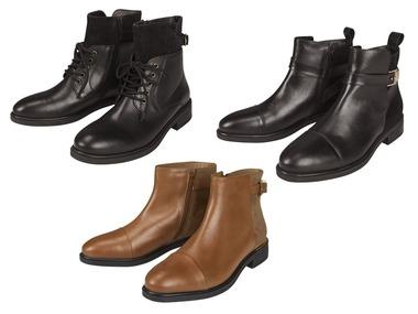 ESMARA® Dámská kožená kotníková obuv
