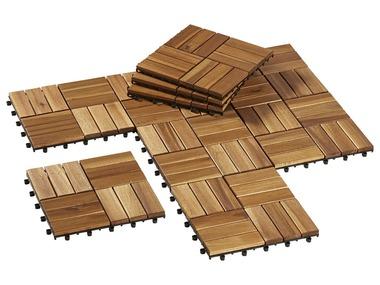 FLORABEST® Dřevěné dlaždice, 10 kusů