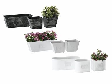 FLORABEST® Sada kovových květináčů