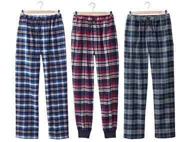 LIVERGY® Pánské flanelové kalhoty