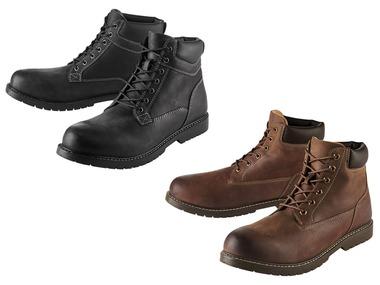 LIVERGY® Pánská kožená kotníková obuv