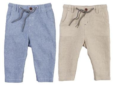 LUPILU® Chlapecké lněné kalhoty