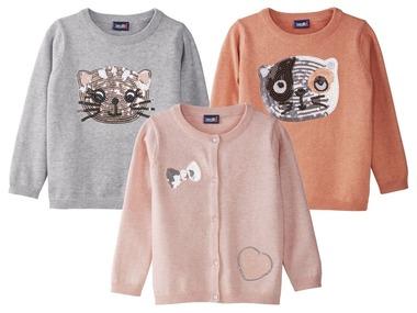 LUPILU® Dívčí jemně pletený kardigan / svetr