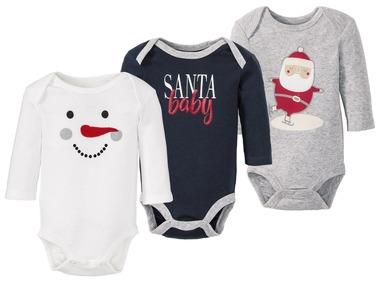 LUPILU® Dívčí vánoční body s dlouhými rukávy