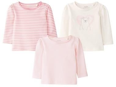 LUPILU® Kojenecké dívčí triko s dlouhým rukávem