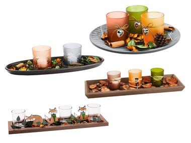 MELINERA® Dřevěný podnos na čajové svíčky