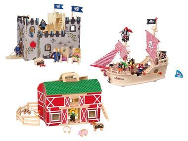 PLAYTIVE®JUNIOR Dřevěný statek / pirátská loď / hrad
