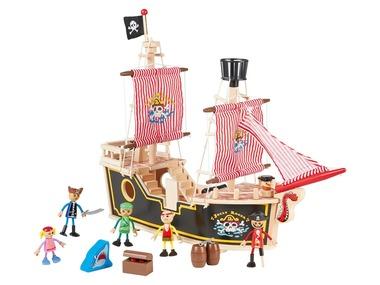 PLAYTIVE®JUNIOR Dřevěná pirátská loď