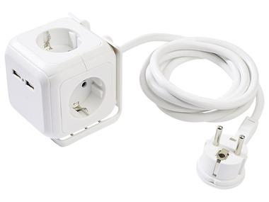 POWERFIX® Zásuvková kostka s USB portem