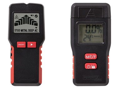 POWERFIX® Multifunkční detektor / Měřič vlhkosti dřeva a stavebních materiálů