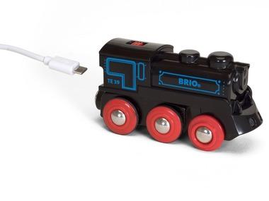 BRIO Černá nabíjecí lokomotiva s mini USB 33599