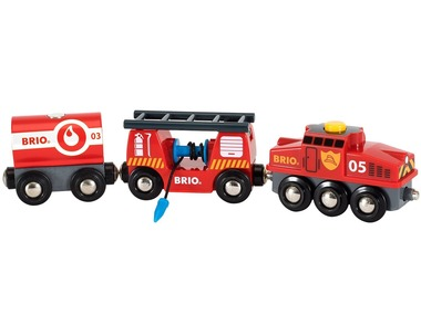 BRIO World Hasičský vlak 33844