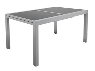 FLORABEST® Rozkládací hliníkový stůl se skleněnou deskou