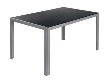 FLORABEST® Hliníkový stůl se skleněnou deskou