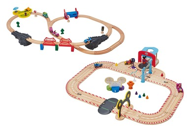 PLAYTIVE®JUNIOR Dřevěná železnice / závodní dráha Disney