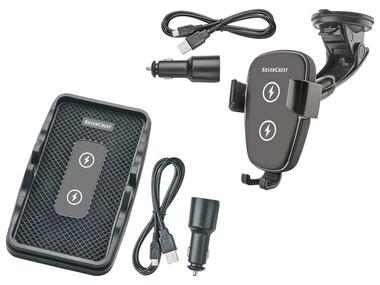SILVERCREST® Držák do auta s bezdrátovým nabíjením / Nabíjecí podložka do auta