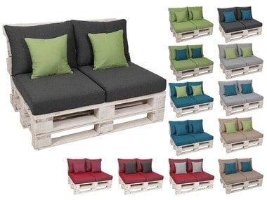 GO-DE Textil Sada sedáků a polštářů na paletový nábytek