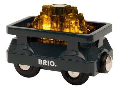 BRIO Svítící vagon se zlatem