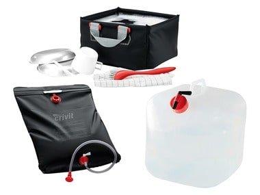 CRIVIT® Kempinková solární sprcha / kanystr / dřez