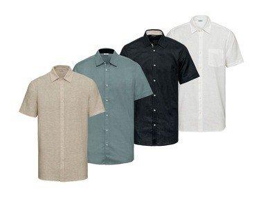 LIVERGY® Pánská Iněná volnočasová košile