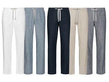 LIVERGY® Pánské lněné kalhoty
