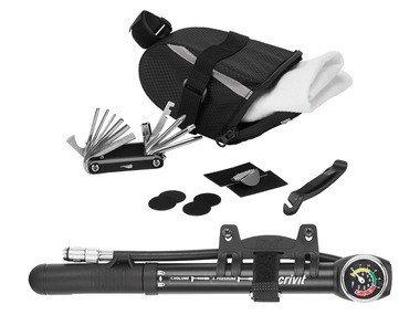 CRIVIT® Podsedlová taška s nářadím / minipumpička