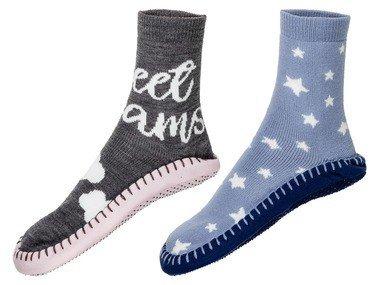 ESMARA® Dámské ponožky a domácí obuv 2 v 1