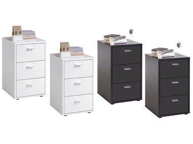 FMD Noční stolek Virginia se 3 zásuvkami