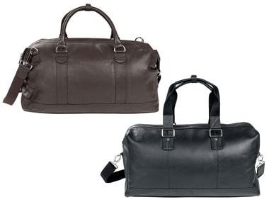 LIVERGY® Pánská kožená taška Weekender