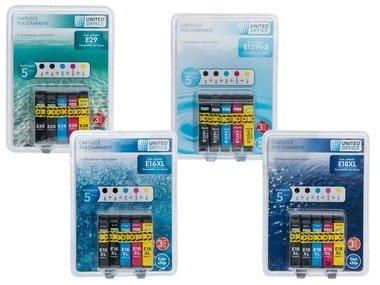 UNITEDOFFICE® Inkoustové náplně Epson - Multipack