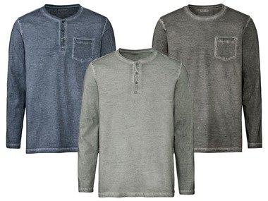 LIVERGY® Pánské triko s dlouhými rukávy BIO
