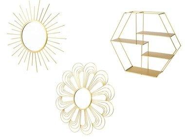 MELINERA® Dekorativní zrcadlo / kovová polička