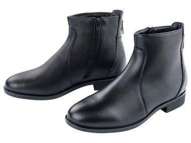 ESMARA® Dámská kožená kotníková obuv (38