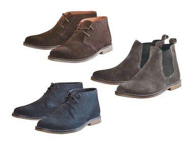 """LIVERGY® Pánská kožená kotníková obuv / kožená """"Chelsea"""" obuv"""