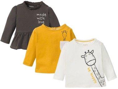 LUPILU® Dívčí triko s dlouhými rukávy BIO