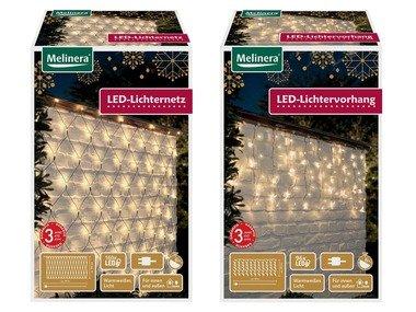 MELINERA® Světelný LED závěs / světelná LED síť