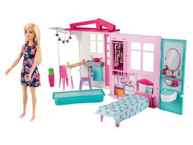 Barbie Prázdninový dům s nábytkem a panenkou
