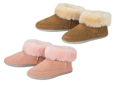 ESMARA® Dámská domácí obuv s ovčí vlnou