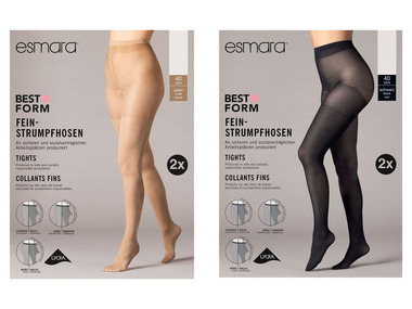 ESMARA® Dámské punčochové kalhoty 40 DEN XXL