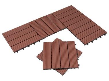 FLORABEST® Dřevěné dlaždice WPC, 6 kusů, hnědá