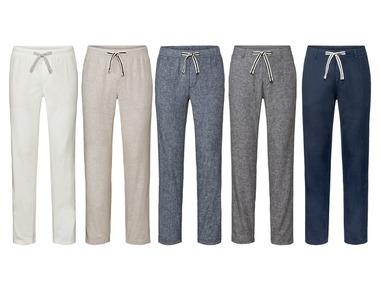 """LIVERGY® Pánské lněné kalhoty """"Straight Fit"""""""