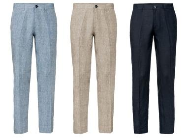 LIVERGY® Pánské lněné chino kalhoty