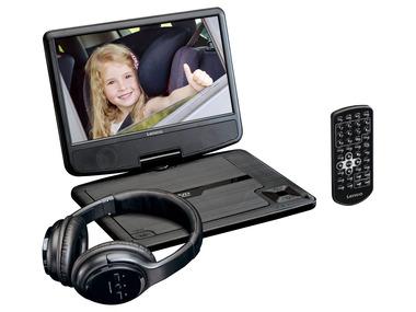 Lenco Přenosný DVD přehrávač s držákem do auta a Bluetooth sluchátky