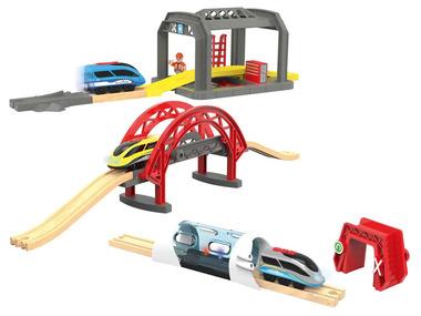 PLAYTIVE® Vláček s tunelem / dílnou / sklápěcím mostem
