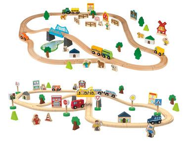 PLAYTIVE® Dřevěná železnice