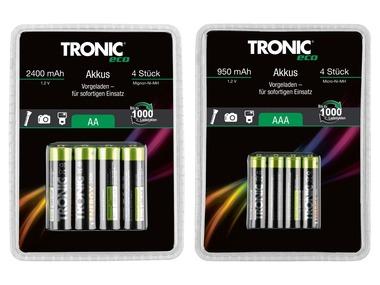 """TRONIC® Přednabité nabíjecí baterie Ni-MH """"Ready 2 Use"""""""